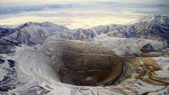 Cette mine de cuivre est visible depuis la Station spatiale internationale.